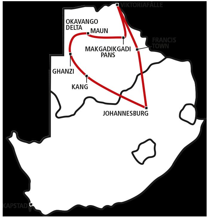 Drifters Botswana Tour