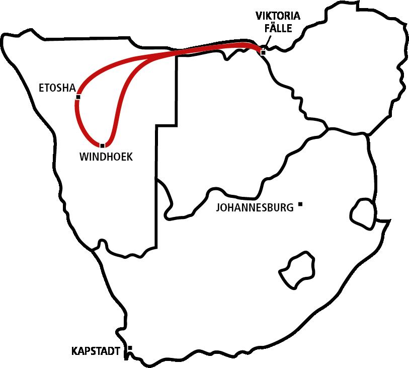 Etosha, Chobe und Caprivi