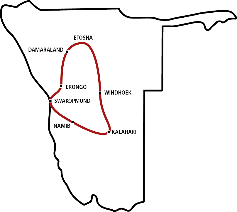 Gemütlicher Norden Namibias