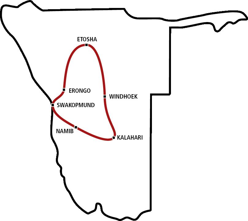Sonderangebot Namibias Norden