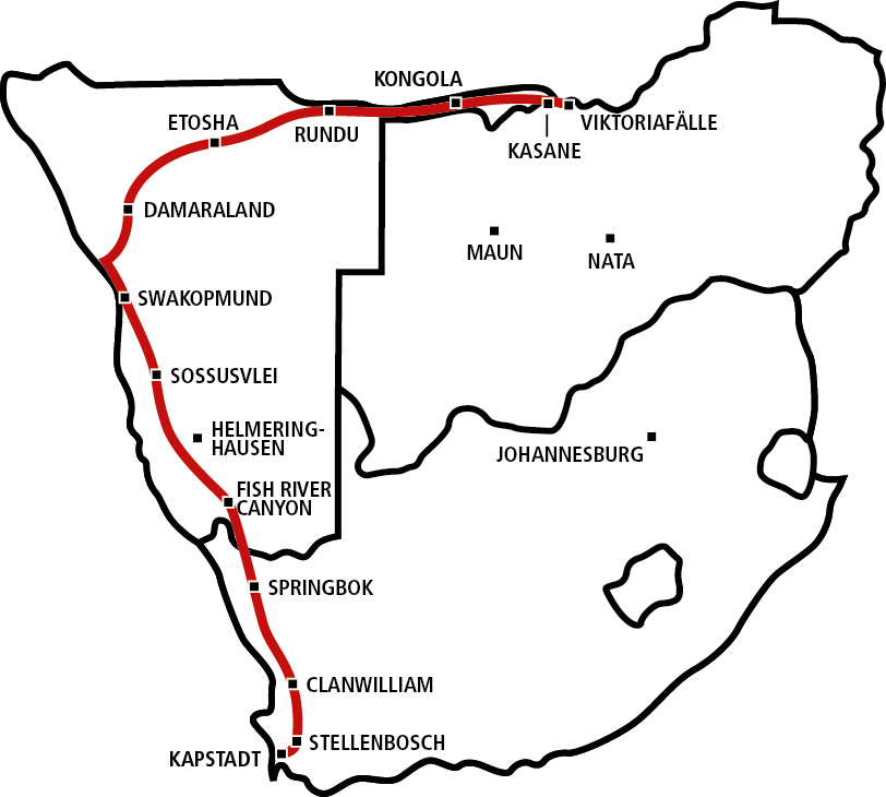 Cape To Vic Falls