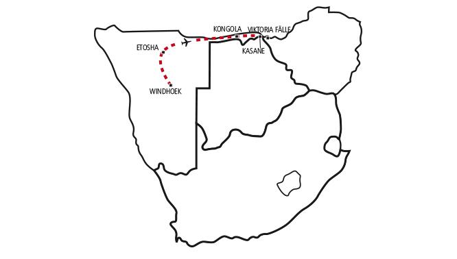 Etosha, Caprivi, Chobe & Victoria Falls