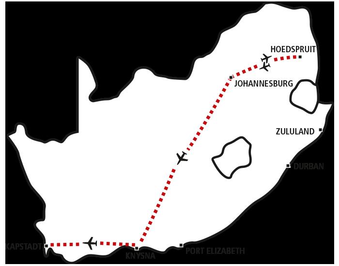 Krüger Park, Garden Route & Kapstadt