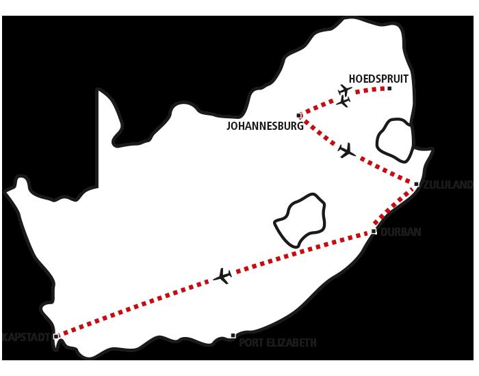 Krüger Park, Zululand & Kapstadt