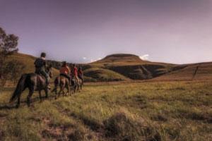 Ausritt in den Drakensbergen