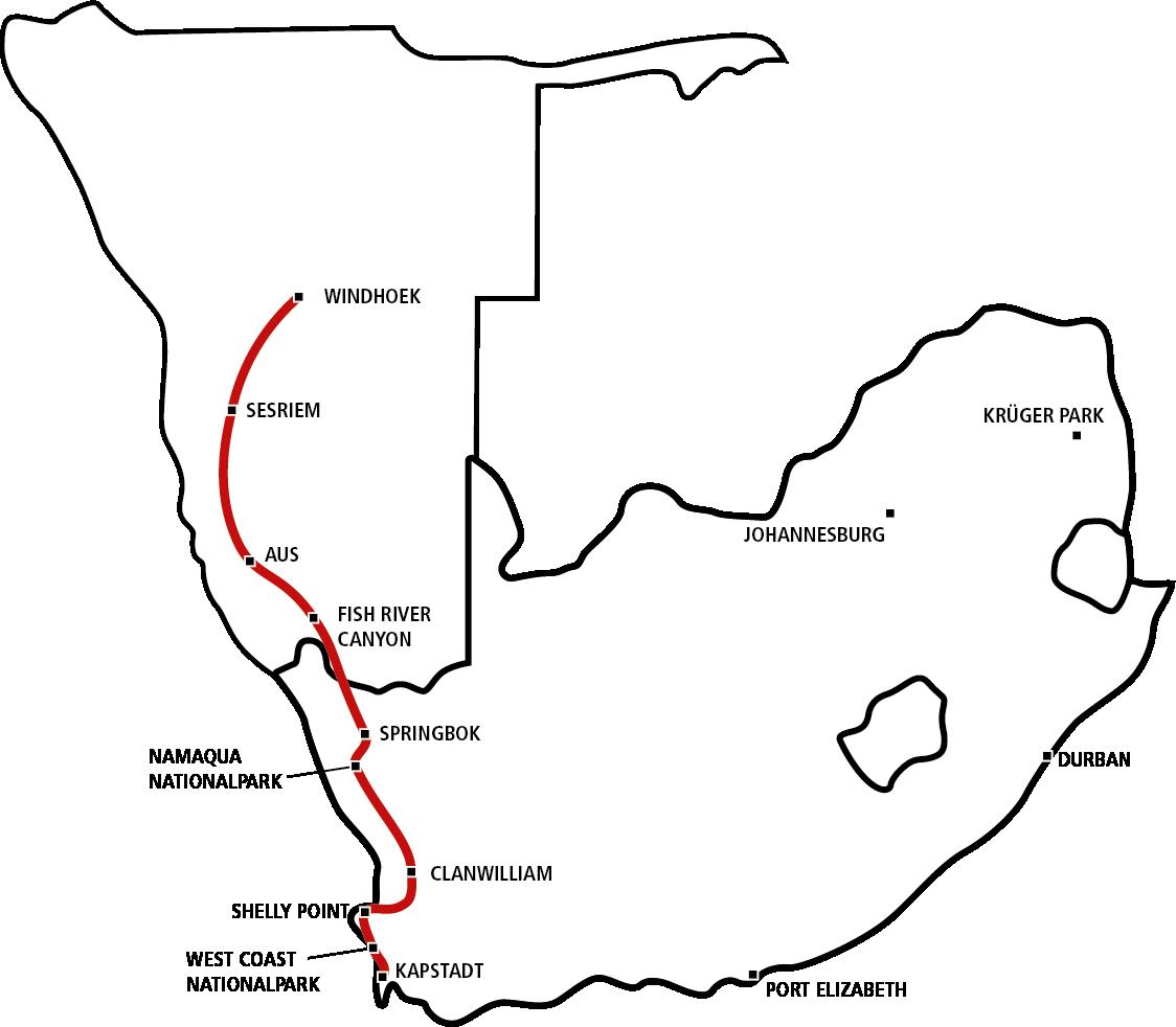 Windhoek bis Kapstadt STAR
