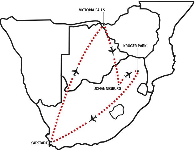 Krüger, Kapstadt & Vic Falls
