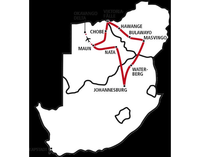 Botswana Zimbabwe Combo