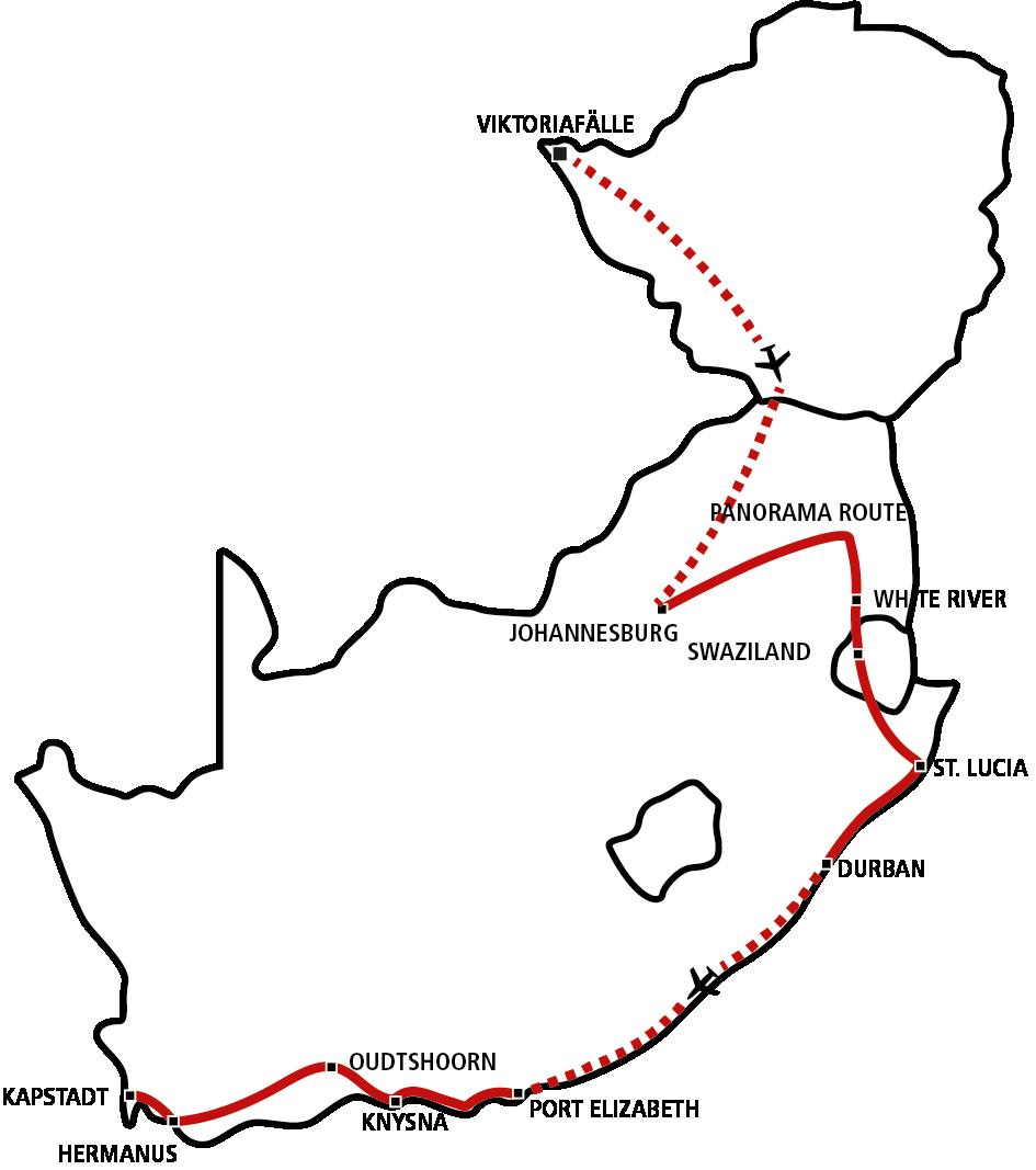 Südafrika & Vic Falls Star (Sep-Dez)
